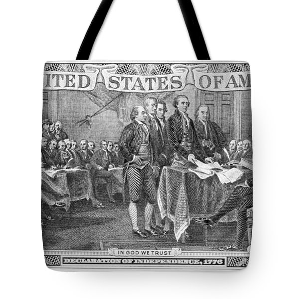 Currency: Two Dollar Bill Tote Bag by Granger
