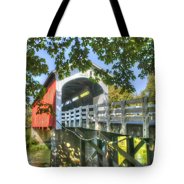 Tote Bag featuring the photograph Currin Bridge-oregon by Geraldine Alexander