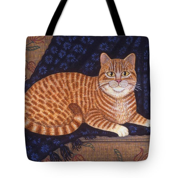 Curry The Cat Tote Bag by Linda Mears