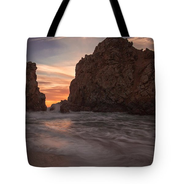 Curtain Call At Big Sur Tote Bag
