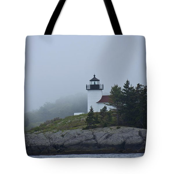 Curtis Island Lighthouse Tote Bag by Daniel Hebard