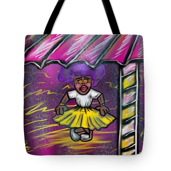 Curtsy Doll Rain Tote Bag