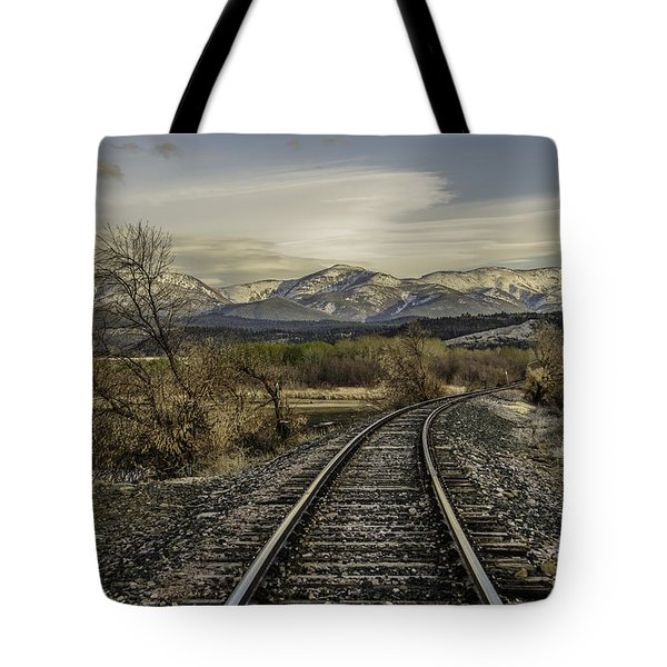 Curve In The Tracks Tote Bag