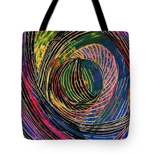 Curved Lines 6 Tote Bag by Sarah Loft
