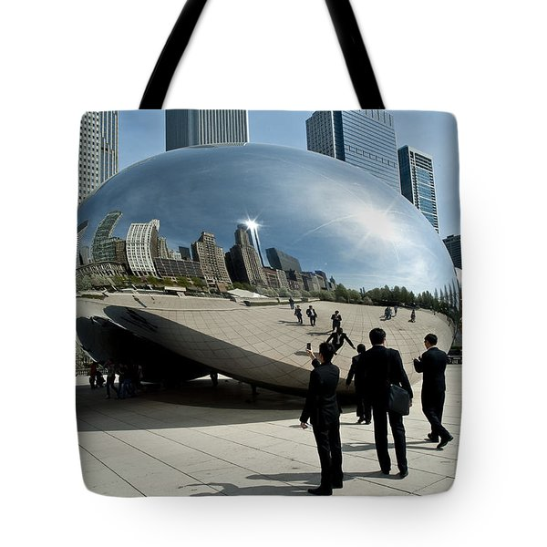 Curved Perception Tote Bag