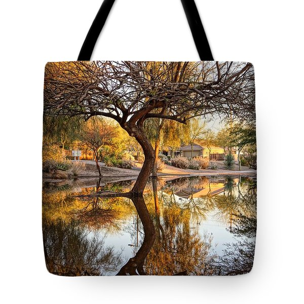 Curved Reflection Tote Bag