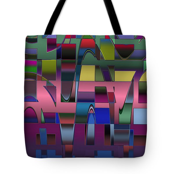 Tote Bag featuring the digital art Curves And Trapezoids  by Judi Suni Hall