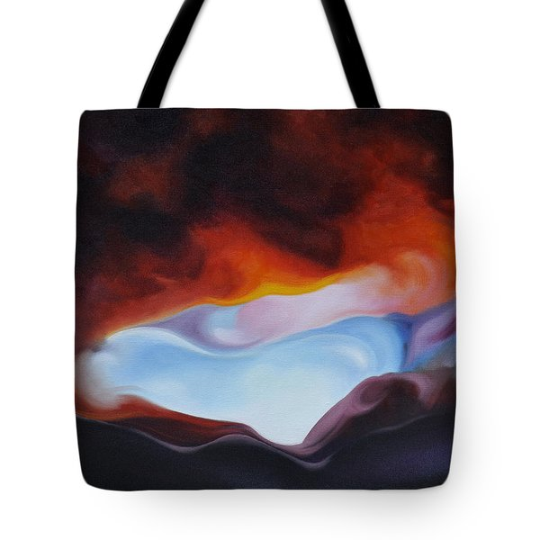Curves On The Horizon Tote Bag