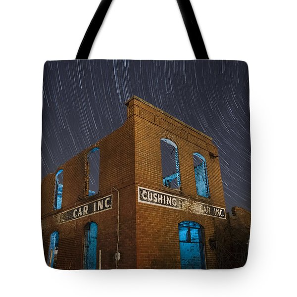 Tote Bag featuring the photograph Cushing Auto Service by Keith Kapple
