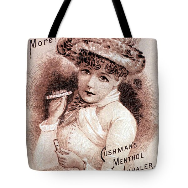 Cushmans Menthol Inhaler-headache Cure Tote Bag by Science Source