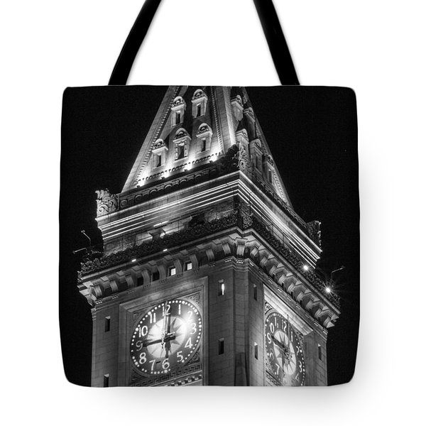Custom House In Boston Black And White Tote Bag