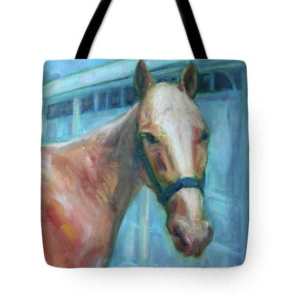 Custom Pet Portrait Painting - Original Artwork -  Horse - Dog - Cat - Bird Tote Bag by Quin Sweetman