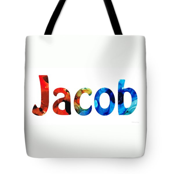 Customized Baby Kids Adults Pets Names - Jacob 5 Name Tote Bag by Sharon Cummings