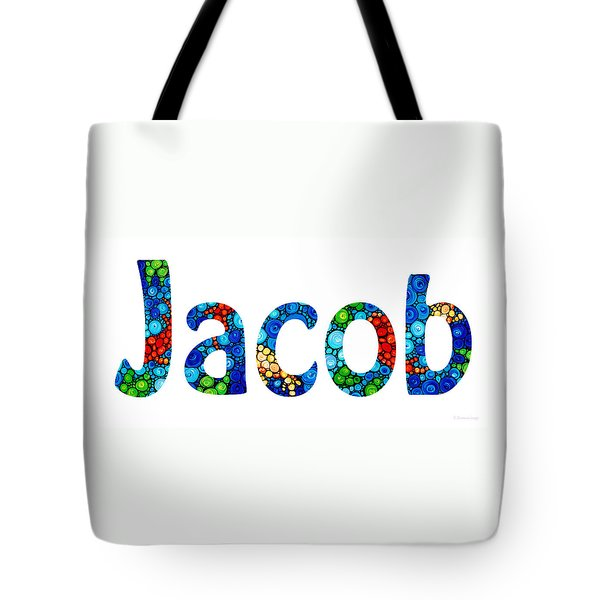Customized Baby Kids Adults Pets Names - Jacob Name Tote Bag by Sharon Cummings