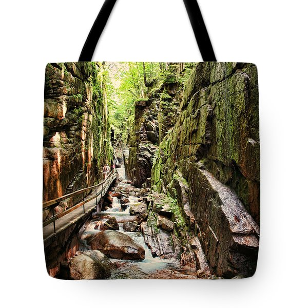 Cut Through The Flume Tote Bag