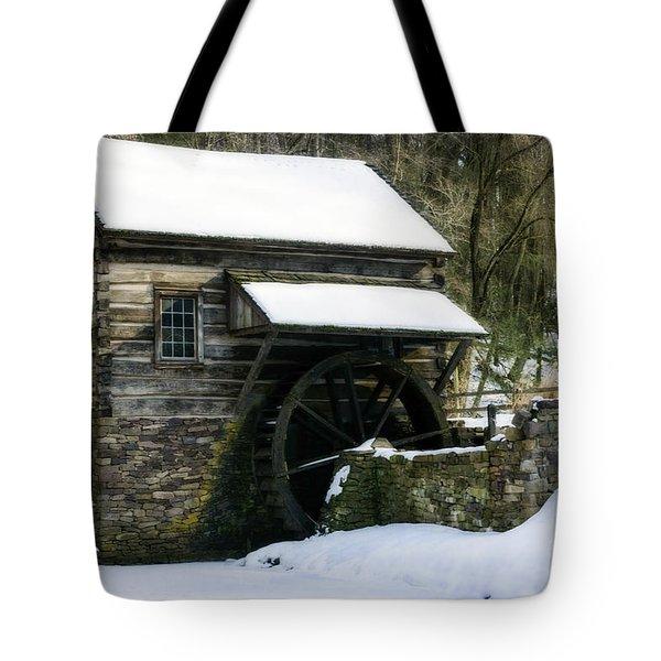 Tote Bag featuring the photograph Cuttalossa Farm In Winter by Debra Fedchin