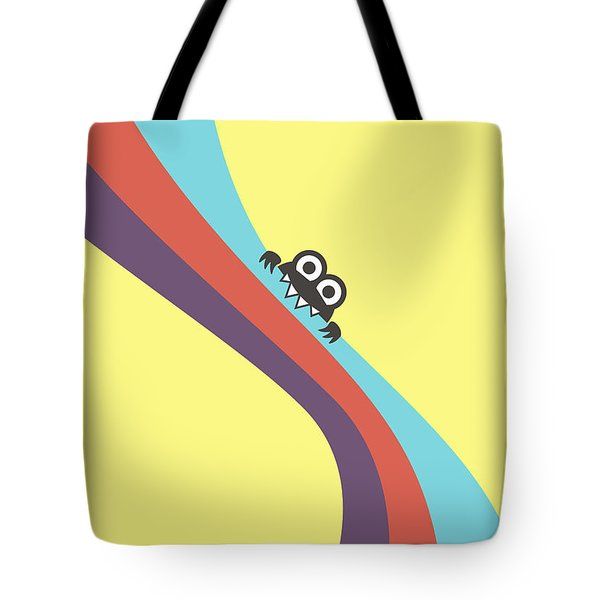 Cute Bug Bites Candy Colored Stripes Tote Bag