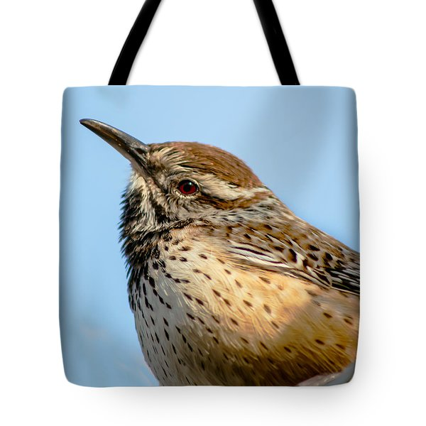 Cute Cactus Wren Tote Bag