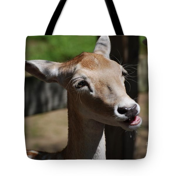 Cute Deer Tote Bag by DejaVu Designs