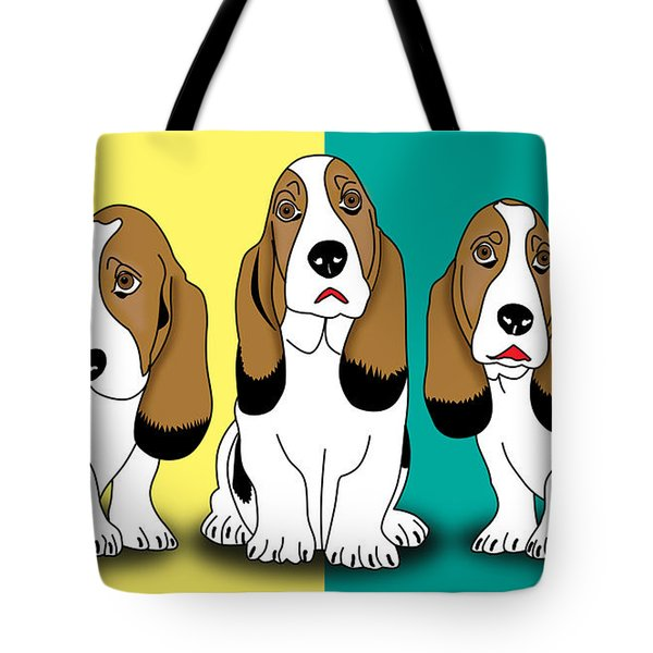 Cute Dogs  Tote Bag by Mark Ashkenazi