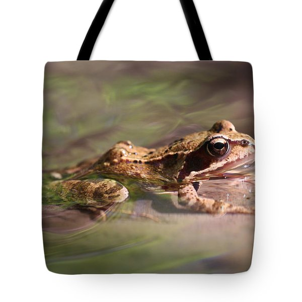 Cute Litte Creek Frog Tote Bag