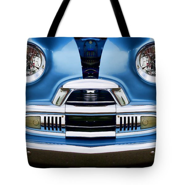 Cute Little Car Faces Number 4 Tote Bag