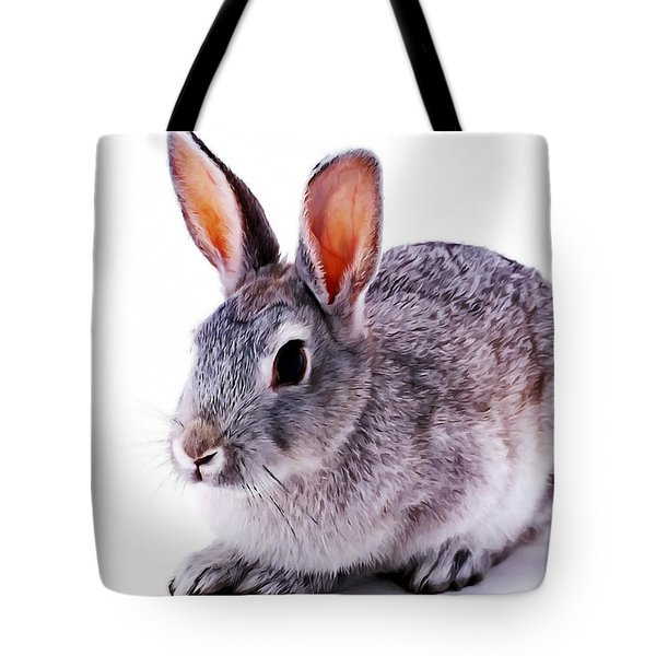 Cute Rabbit Tote Bag by Lanjee Chee