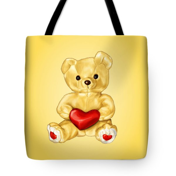 Cute Teddy Bear Hypnotist Tote Bag by Boriana Giormova