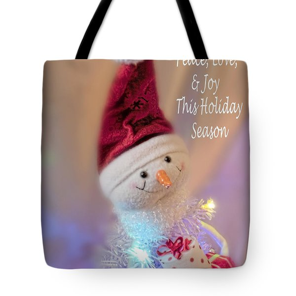 Cutest Snowman Christmas Card Tote Bag