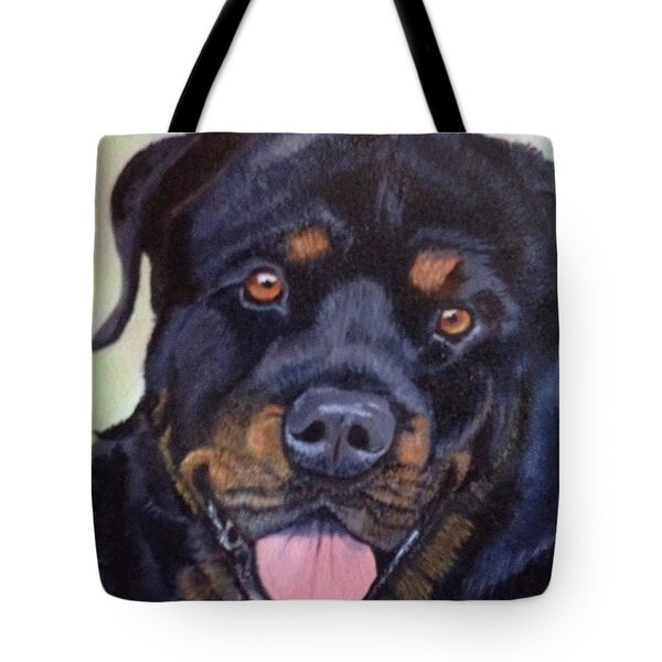 Cutter The Rottweiller Tote Bag