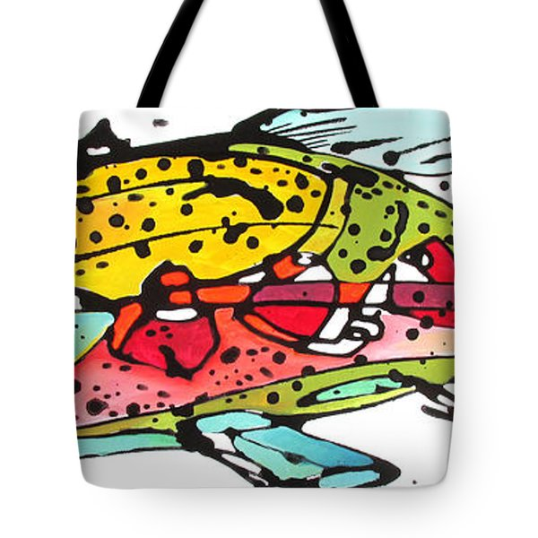 Cutthroat Trout Tote Bag by Nicole Gaitan
