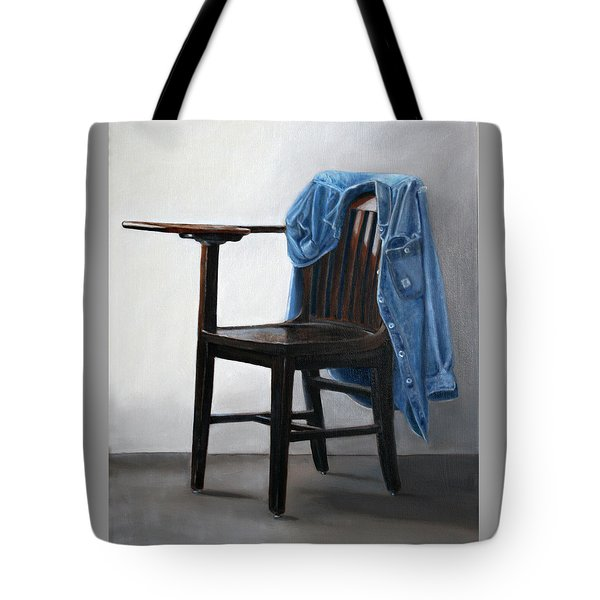 Tote Bag featuring the painting Cutting Class by Gail Chandler