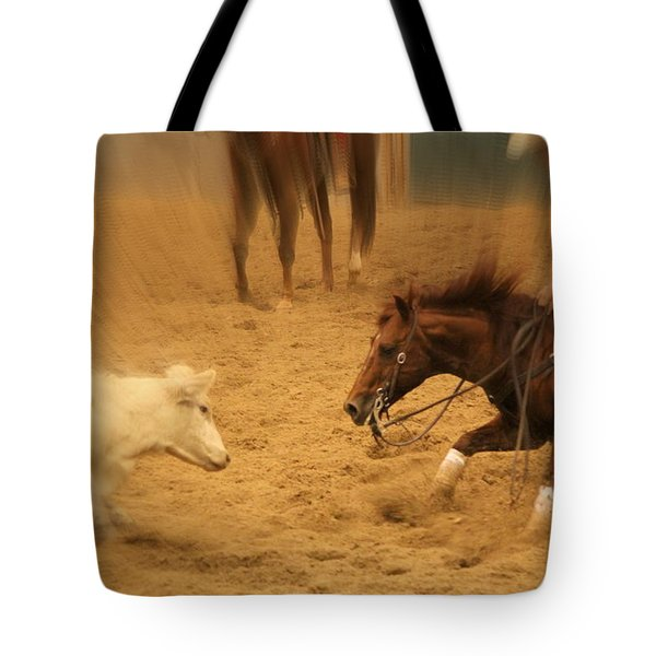 Cutting Horse 8 Tote Bag by Lynn Sprowl