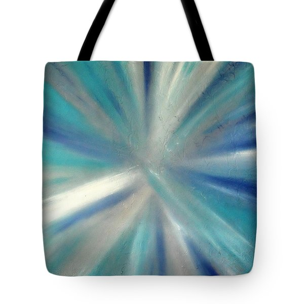 Tote Bag featuring the painting Cy Lantyca 9 by Cyryn Fyrcyd