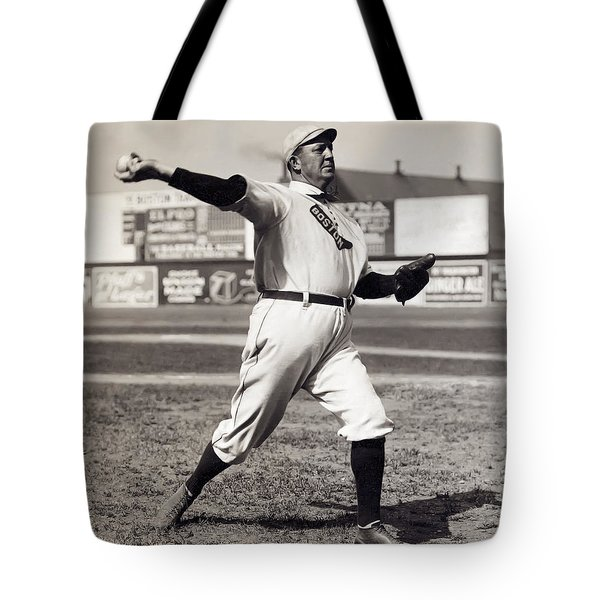 Cy Young - American League Pitching Superstar - 1908 Tote Bag by Daniel Hagerman