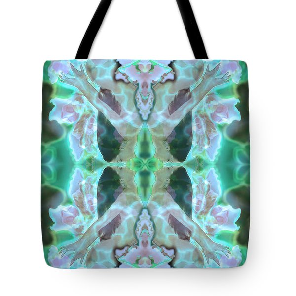 Cyan Fairy Kiss Of Enlightenment Tote Bag