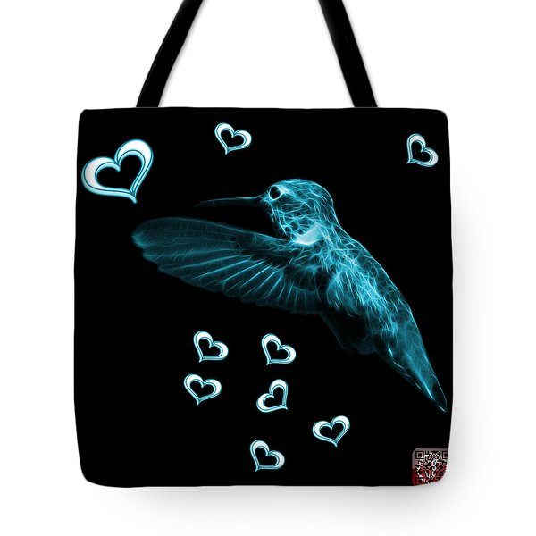 Cyan Hummingbird - 2055 F M Tote Bag by James Ahn