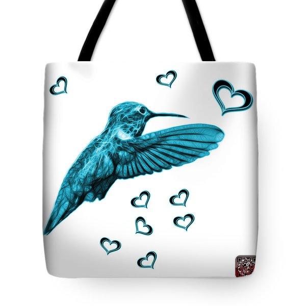 Cyan Hummingbird - 2055 F S M Tote Bag by James Ahn