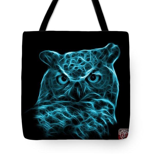 Cyan Owl 4436 - F M Tote Bag by James Ahn