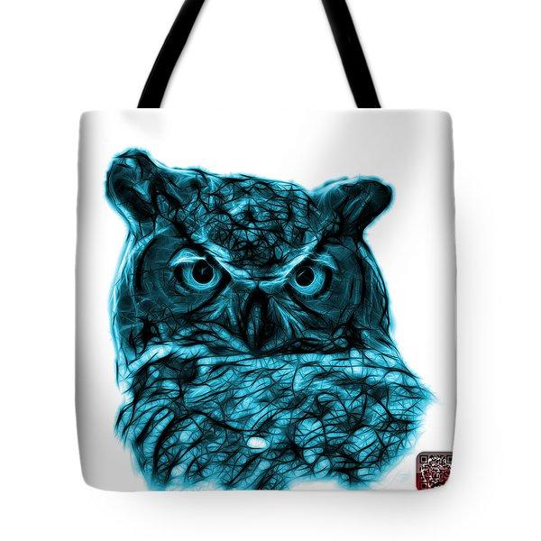 Cyan Owl 4436 - F S M Tote Bag by James Ahn