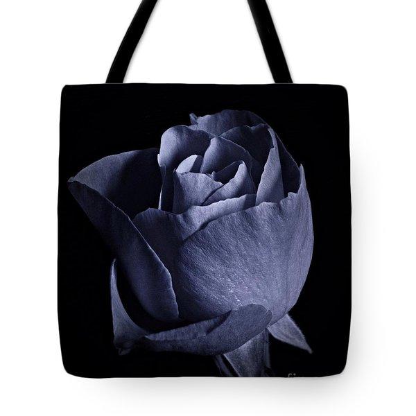 Cyan Rose Portrait Tote Bag