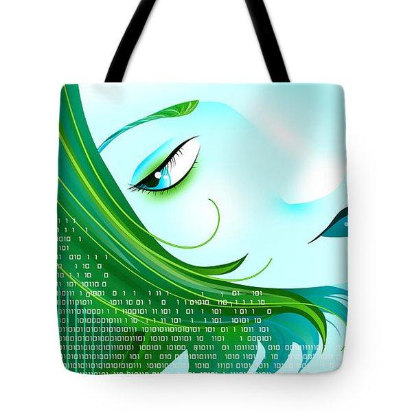Cyberpunk Tote Bag by Sandra Hoefer