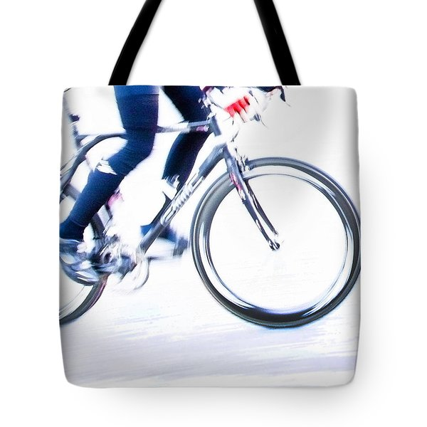 Cycling Tote Bag by Theresa Tahara
