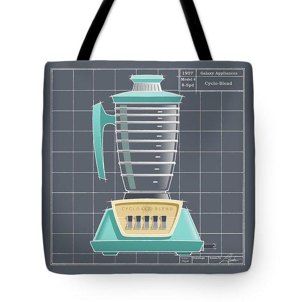 Cyclo-blend - Aqua Tote Bag