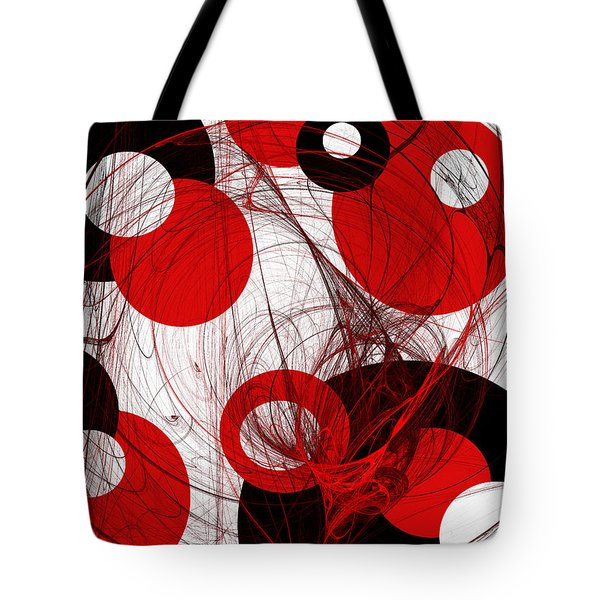 Cyclone Circle Abstract Tote Bag by Andee Design