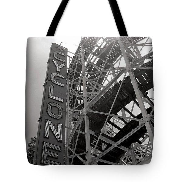 Cyclone Rollercoaster - Coney Island Tote Bag