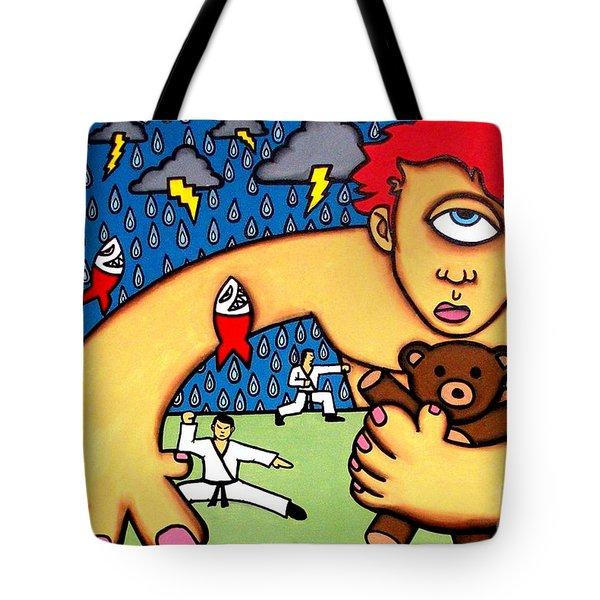 Cyclops I Want To Sleep Tote Bag by Thomas Valentine