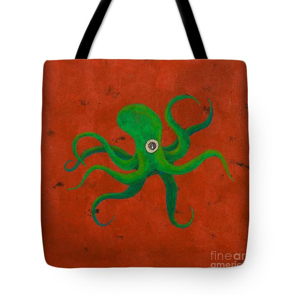 Cycloptopus Red Tote Bag