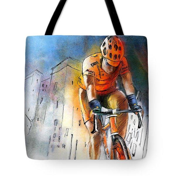 Cycloscape 01 Tote Bag by Miki De Goodaboom