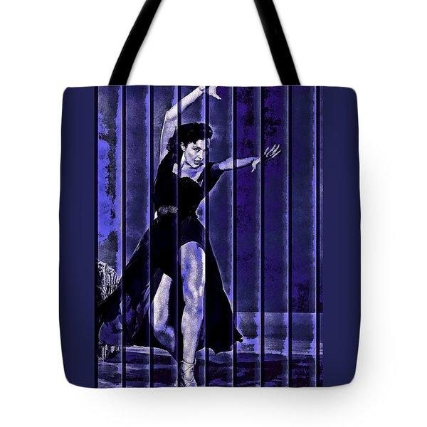 Cyd Charisse Blues II Tote Bag by Maciek Froncisz